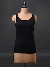 Black Sleeveless Cotton Tees - Fashionexpo