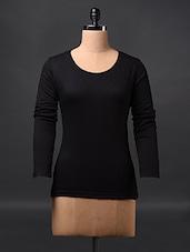 Black Fullsleeve Cotton Tees - Fashionexpo