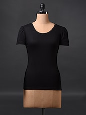 Black Short Sleeve Cotton Tees - Fashionexpo