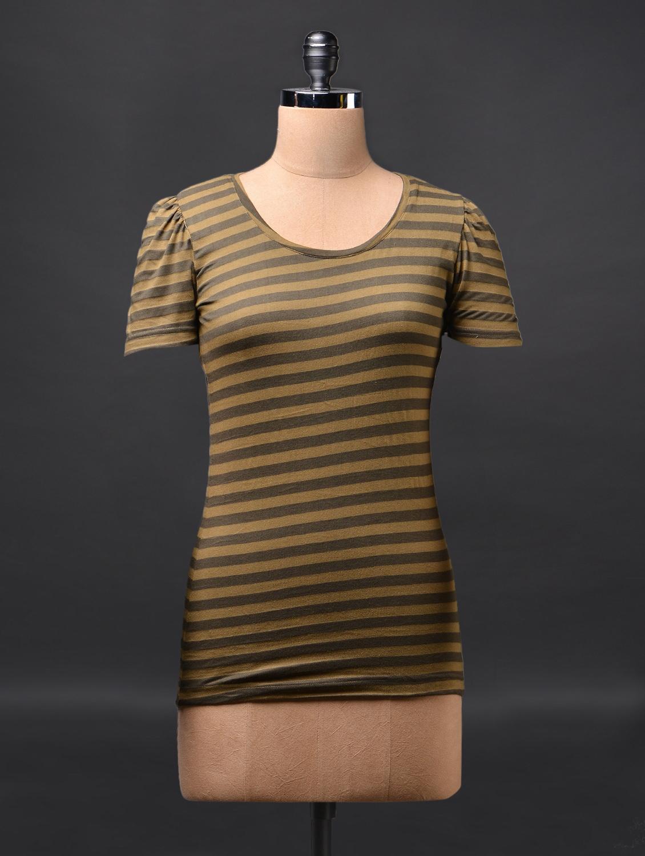 Green Short Sleeve Cotton Tees - Fashionexpo
