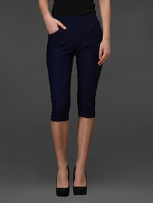 Three Quarter Navy Blue Jamaican Jeggings