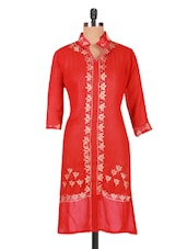 Embroidered Georgette Long Kurti - Sutee