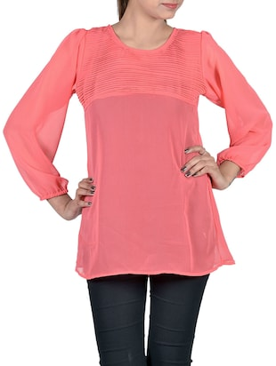 red georgette top