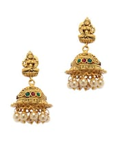 Temple Jewelry Inspired Gold Jhumkas