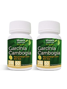 Garcinia Cambogia Capsules 60's Fat Burner, Weight Loss, Obesity Control (Pack of Two)