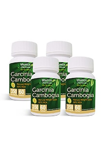 Garcinia Cambogia Capsules 60's Fat Burner, Weight Loss, Obesity Control (Pack of Four)