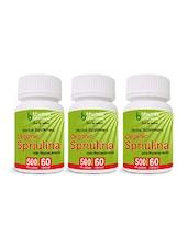 Organic Spirulina Capsules 60's Powerful Source Of Vitamins, Anti-Oxidant, Build Immunity  (Pack Of Three) - By