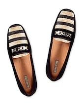 Black Faux Suede Loafers - Marc Loire