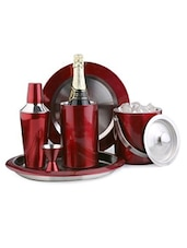 Red Color Stainless Steel Bar Set - King International
