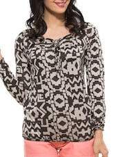 Geometric Print Cotton Top - ZOVI