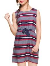 Multicolored Striped Sleeveless Dress - ZOVI