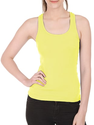 Friskers yellow cotton tank top