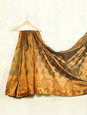 Printed Bronze Art Silk And Zari Banarasi Saree - Prabha Creations