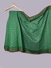 Bottle Green Art Silk Saree - Prabha Creations