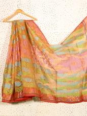 Orange Jacquard Art Silk Saree - Prabha Creations