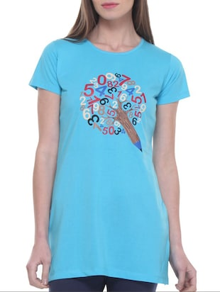 blue cotton tunic