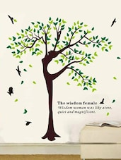 Wisdom Woman Tree  vinyl sticker -  online shopping for Wall Decals & Stickers