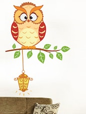 Light It Up Owl Wall Sticker - WallDana