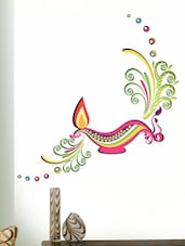 Diwali Diya Wall Sticker available at Limeroad for Rs.165