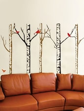 Stark Trees With Birds Wall Decal Wall Sticker - WallDana