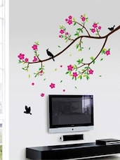 Beautiful Nature Tree & Flowers Wall Sticker - WallDana