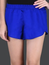 Solid Blue Casual Hot Pant - Hypernation