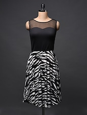 Animal Printed Monochrome Fit & Flare Dress - Eavan