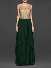 Embellished Green Maxi Dress - Eavan