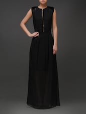 Solid Black Maxi Dress - Eavan