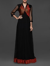 Black Net Maxi Dress - Eavan