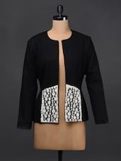Wool Blazer With Lace Detail - Sugar Her