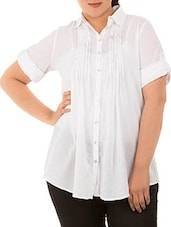 White Cotton Full Sleeve Cotton Shirt - LastInch