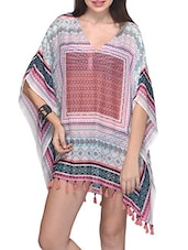 Aztec Printed Polyester Cover Up - Citypret