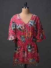 Floral Printed Cotton Cover Up - Citypret
