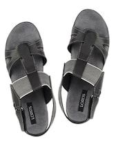 Black Low Heel Sandals - Lord's
