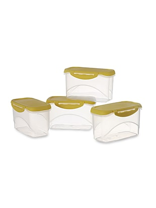 Delite Container Set of 4 Yellow 750 ml