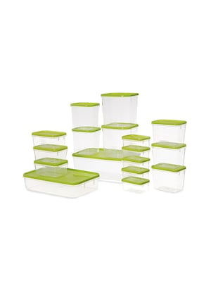 POLKA CONTAINER SET OF 17 GREEN