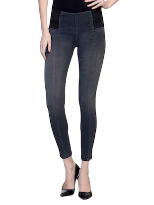 grey cotton jeggings