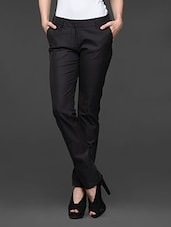 Charcoal Grey Formal Trousers - Kaaryah