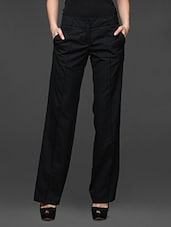 Black Wide Leg Formal Trousers - Kaaryah
