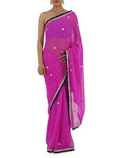 Georgette Hand Work Saree - Bandhni