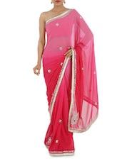 Tie And Die Gota Patti Work Saree - Bandhni