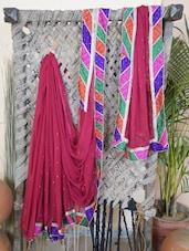 Chiffon Gota Border Saree - Lazza