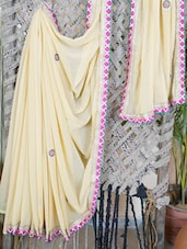 Embellished Georgette Saree With Gota Border - Lazza - 1027205