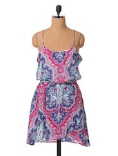 Printed Sleeveless Cotton Dress - Oxolloxo