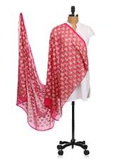 Chiffon Thread Embroidered Dupatta - Dupatta Bazaar