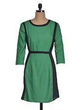 Color Block Round Neck Cotton Dress - Suhilyana