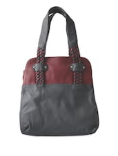 Weaved Handle Multi Pocket Handbag - Toteteca
