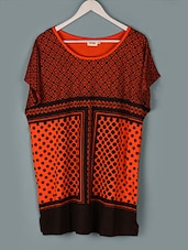 Orange Printed Cotton Top - PLUSS