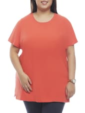 Round Neck Plain Cotton Top - PLUSS